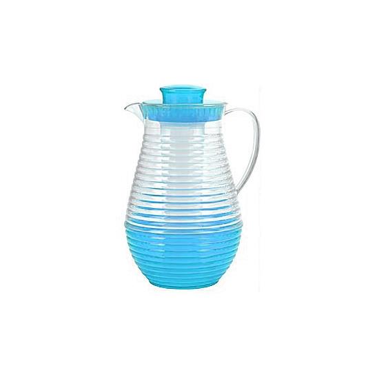 Plastic waterkan met koelstaaf blauw
