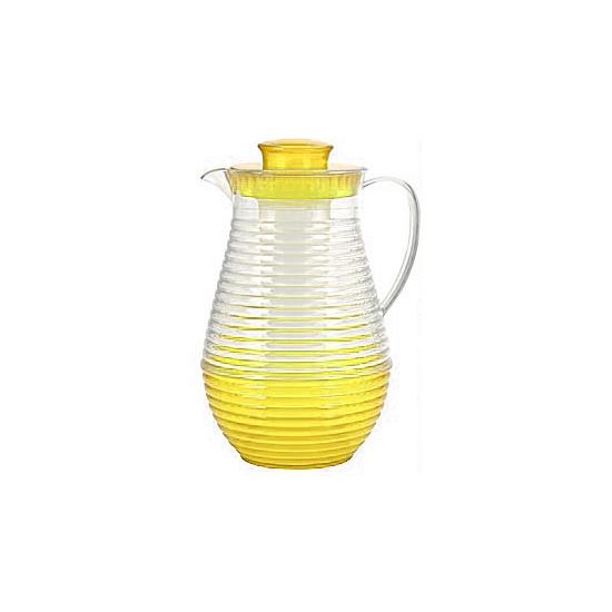 Plastic waterkan met koelstaaf geel