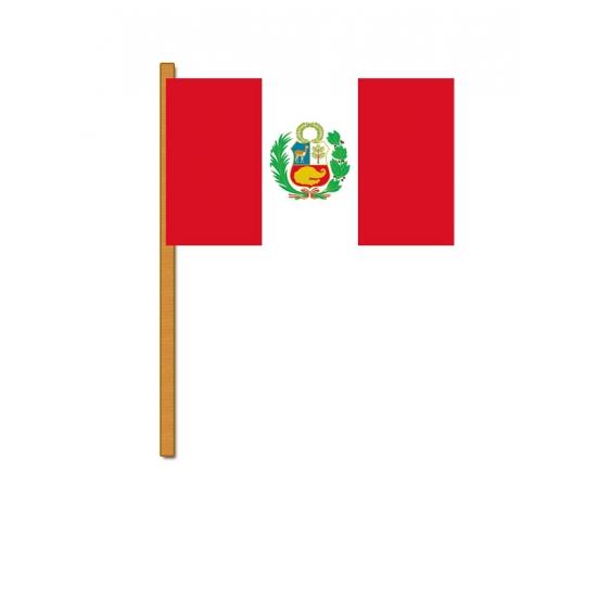 Polyester zwaaivlag van Peru