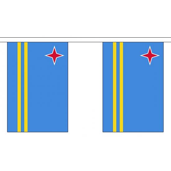 Polyster vlaggenlijn Aruba 3 m