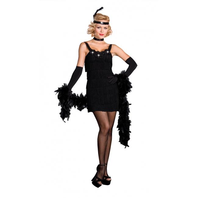 Sexy jaren 20 jurkje zwart. sexy all that jazz kostuum, geheel in de jaren 20 stijl! inclusief stretch jurkje ...