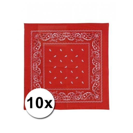 Rode boeren zakdoeken 10x