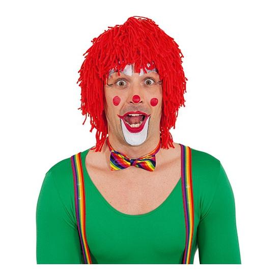 Rode clownspruiken van wol