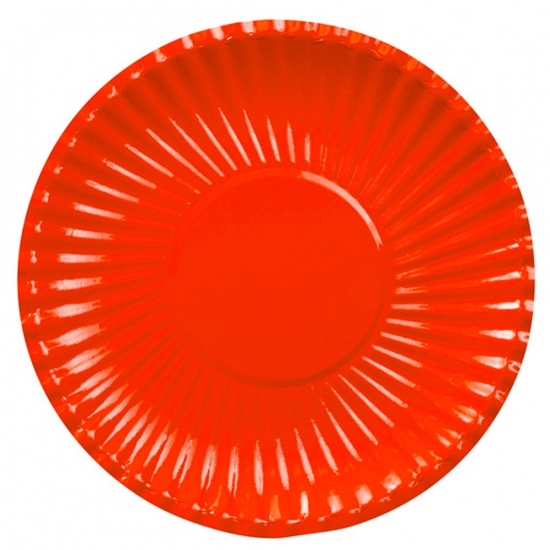 Rode kartonnen borden 29 cm