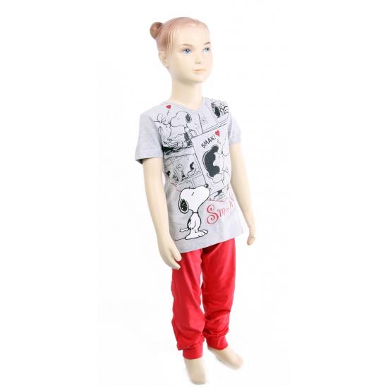 Rood met grijze kinder pyjama Snoopy