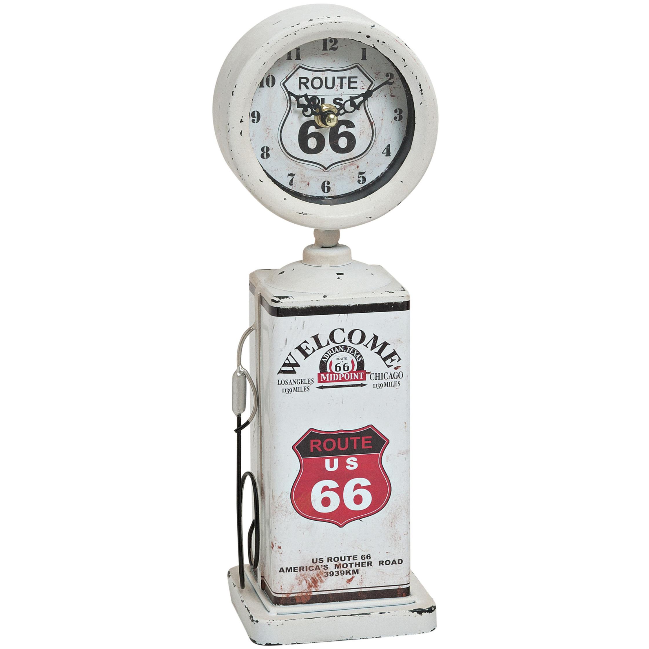 Route 66 woonkamer klok wit 34 cm