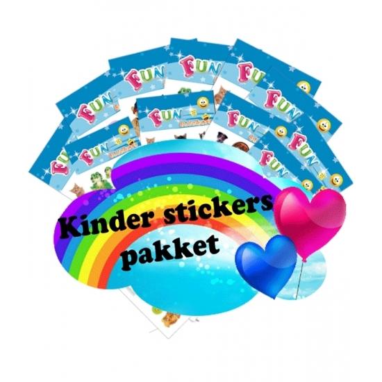 Katten kinder stickers pakket. voordeelpakket met 5 stickervelletjes met katten stickers. , dit artikel ...