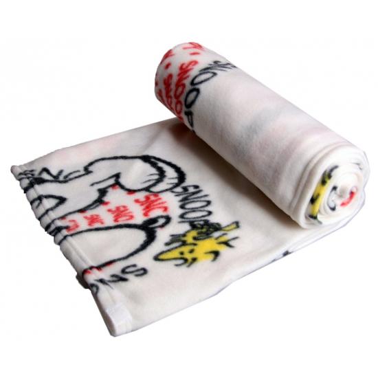 Snoopy deken wit 120 x 120 cm