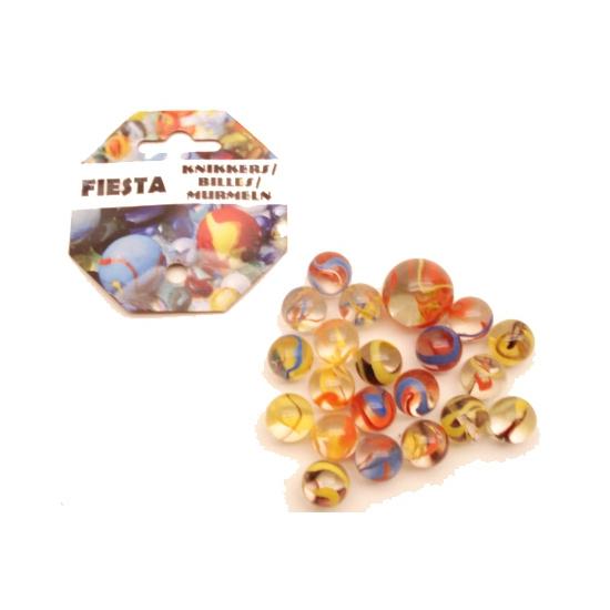 Speelgoed fiesta knikkers 21 stuks