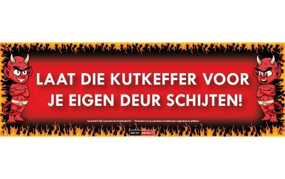 Sticky Devil stickers tekst Kutkeffer