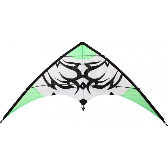 Stunt vlieger 2 liner groen met een tribal115 x 50
