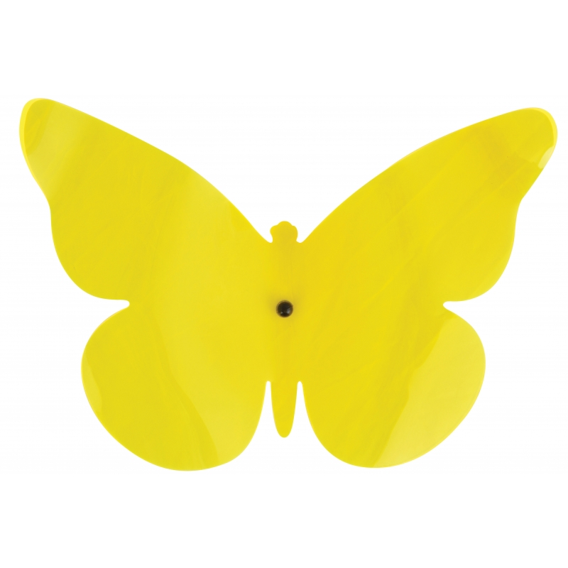 Tuinversiering deco vlinder geel 25 cm