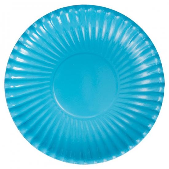 Turquoise kartonnen borden 29 cm