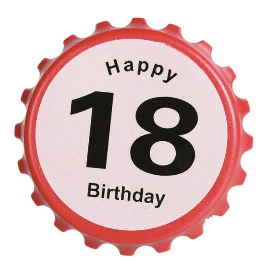 Verjaardag Bieropener 18 Jaar