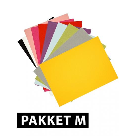 Verschillende kleuren A4 karton 36x