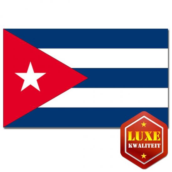 Vlag Cuba zware kwaliteit (bron: Partyshopper)