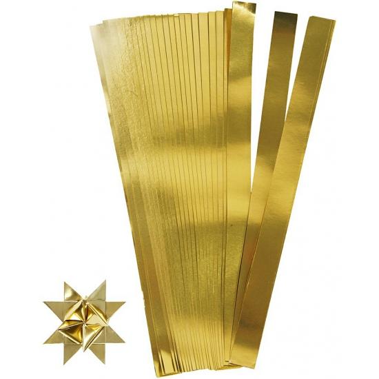 Vlechtstroken van papier goud 73 cm