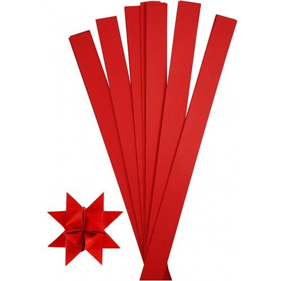 Vlechtstroken van papier rood 73 cm