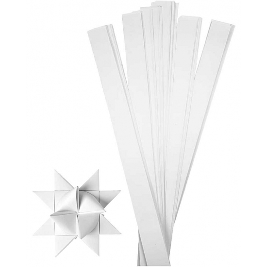 Vlechtstroken van papier wit 73 cm