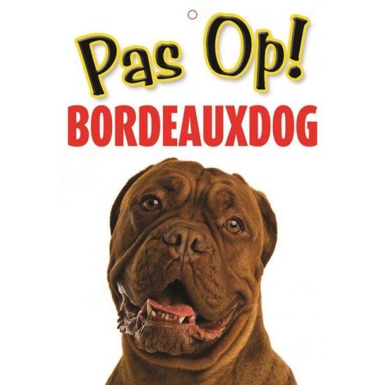 Waakbord Bordeauxdog hond