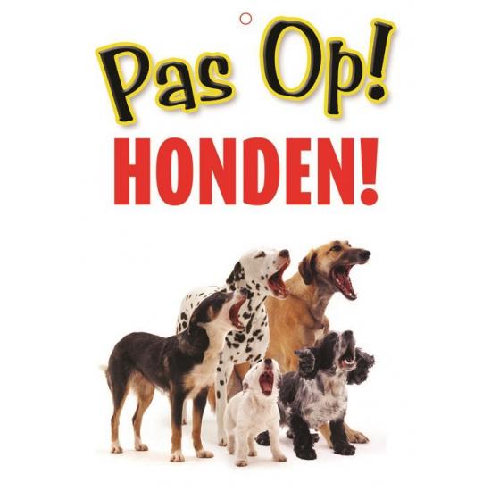 Waakbord pas op Honden