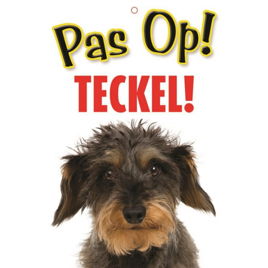 Waakbord Teckel hond