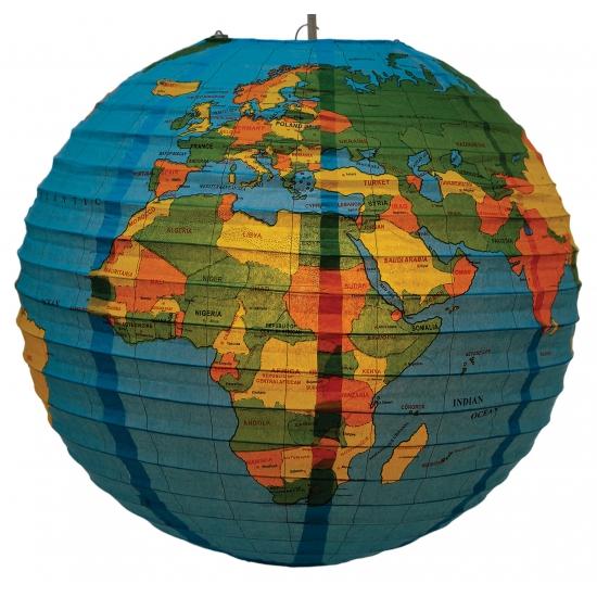 Wereldbol lantaarn 41 cm