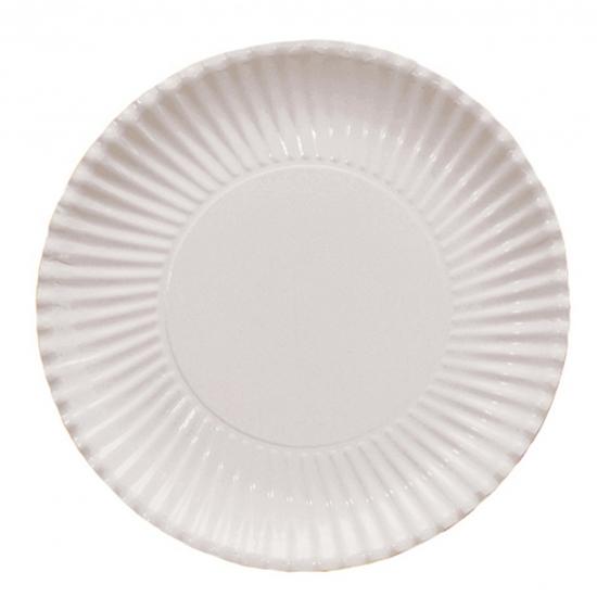 Witte barbecue borden 29 cm