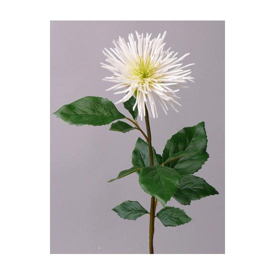 Witte Chrysanten kuntbloemen 71 cm