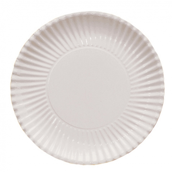 Witte kartonnen borden 29 cm