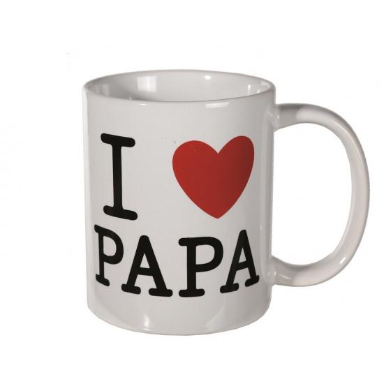 Witte mok I love papa