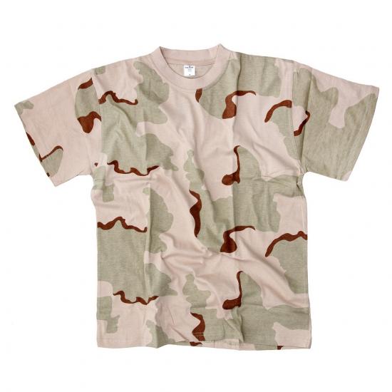 Woestijn legerprint t-shirt korte mouw