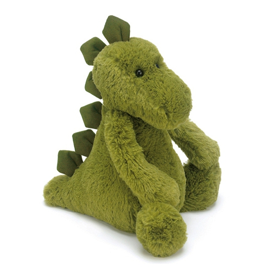 Zachte dinosaurus knuffel groen 21 cm