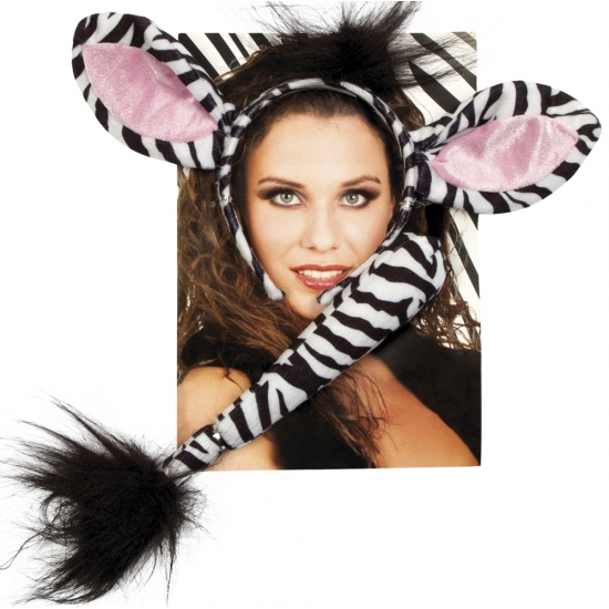 Zebra verkleed setje voor volwassenen