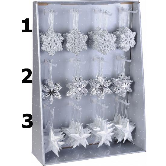 Zilveren sneeuwvlok hangertje 10 cm
