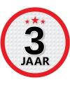 Luxe 3 jaar stickers