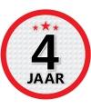 Luxe 4 jaar stickers