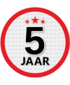 Luxe 5 jaar stickers