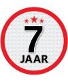 Luxe 7 jaar stickers