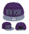 Paarse snapback pet New York