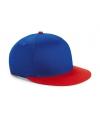 Blauw/rode retro baseball cap voor kinderen
