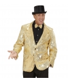 Glitter jas goud heren