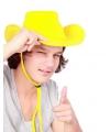 Gele cowboyhoed