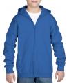 Kobalt blauw sweatshirt met rits voor jongens