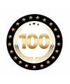 Luxe bierviltjes met cijfer 100