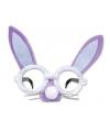 Paarse bril met konijnenoren en snuit