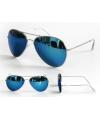 Politiebril blauw met zilver