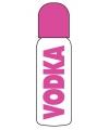 Vodka roze fles voor babies