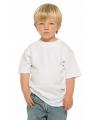 Wit kinder t-shirt met ronde hals