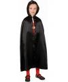Verkleed cape zwart voor kinderen
